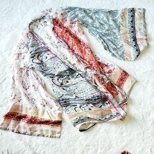 LA SENZA 100% silk paisley print kimono